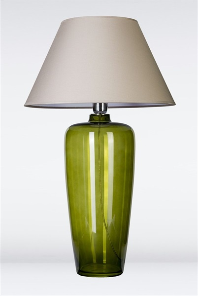 Bilbao Green Glass Table Lamp