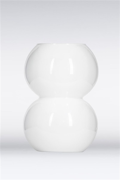 Erba White Glass Table Lamp