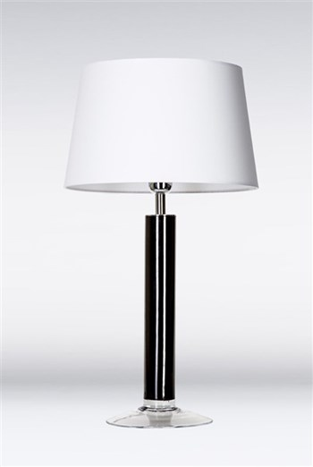 4 Concepts Fjord  Black, Medium Glass Table Lamp, White/White