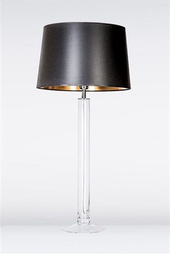 4 Concepts Fjord  Large Glass Table Lamp, Black/Gold