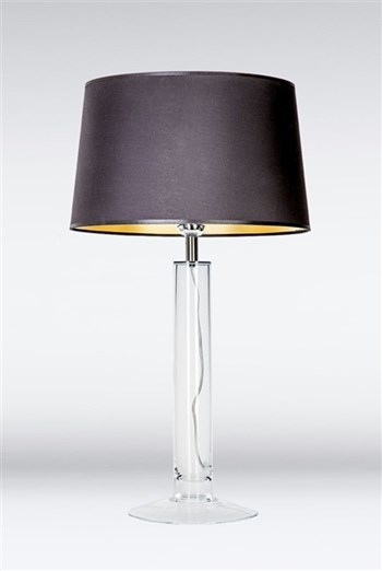 4 Concepts Fjord  Medium Glass Table Lamp, Black/Gold