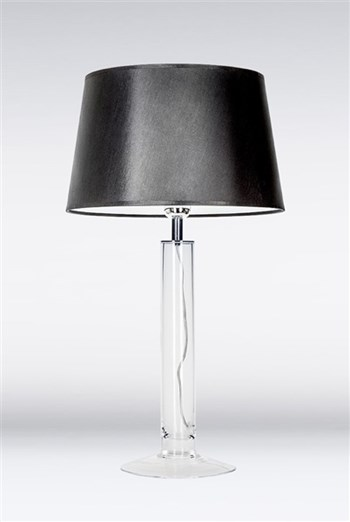 4 Concepts Fjord  Medium Glass Table Lamp, Black/White