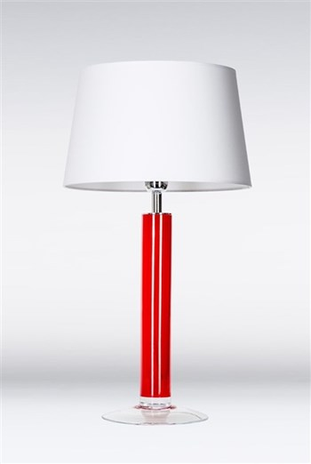 4 Concepts Fjord  Red, Medium Glass Table Lamp, White/White