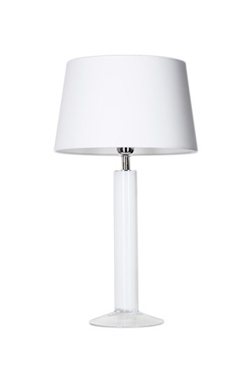 4 Concepts Fjord  White, Medium Glass Table Lamp, White/White