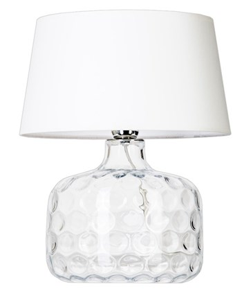 4 Concepts Paris  Small Glass Table lamp, White/White