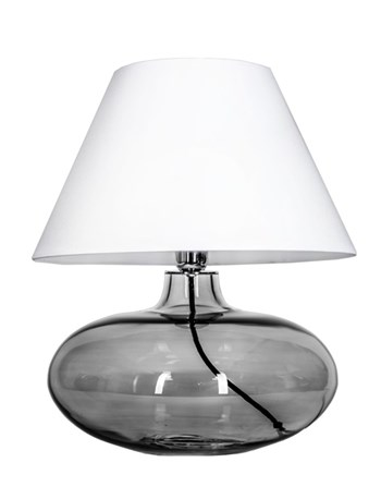 4 Concepts Stockholm  Large Glass Table Lamp, Black White/White