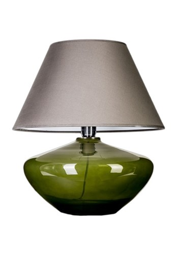 4 Concepts Madrid  Green, Glass Table Lamp, Grey/White