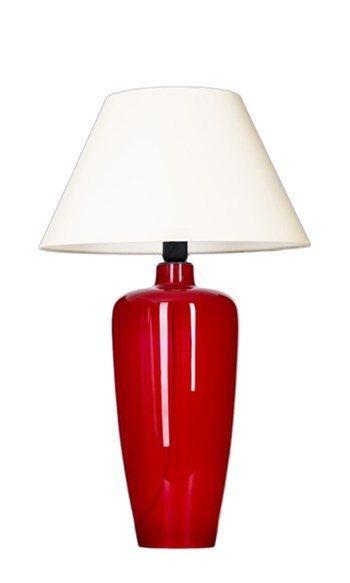 4 Concepts Sevilla  Red Vase Table Lamp, Large shade white/white