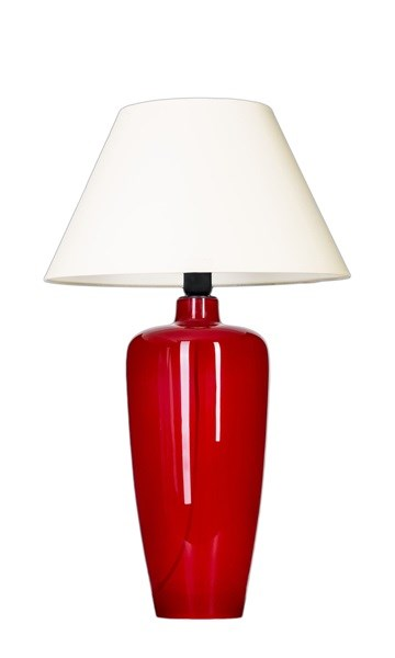 4 Concepts Sevilla  with Red Vase Table Lamp