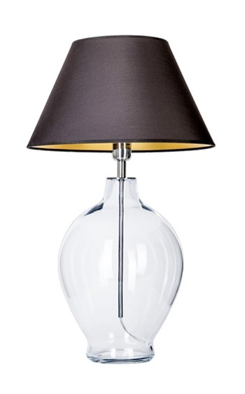 4 Concepts Capri  Small Glass Table Lamp, Black/Gold