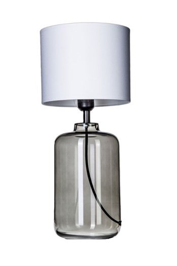 4 Concepts Ystad  Glass Table Lamp, Small White/White