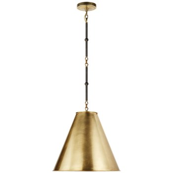Visual Comfort Goodman  Metal Shade, Bronze and Antique Brass with Antique Brass