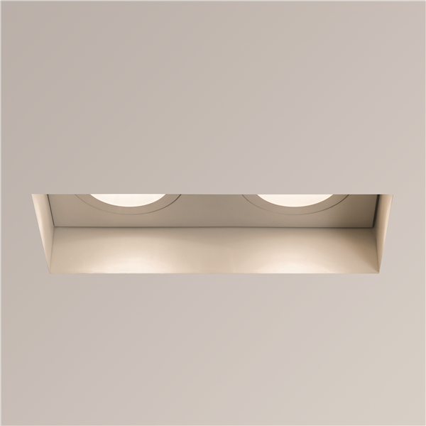 Twin Adjustable Fire Rated White Recessed Downlight