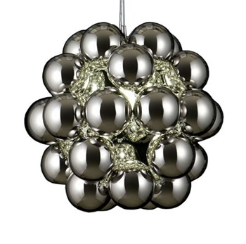 Innermost Beads  Penta, Polished Sphere Cluster, Chrome