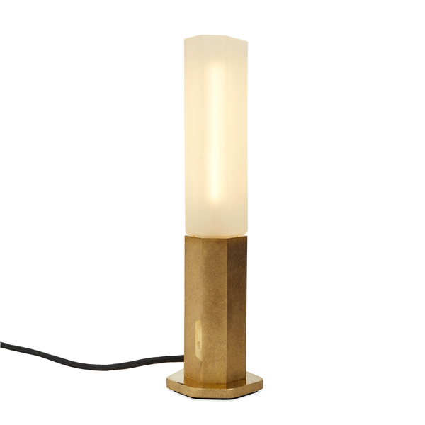 Design Collection Basalt Brass LED Touch Lamp