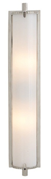 Visual Comfort Calliope  Bath Light With White Glass, Polished Nickel