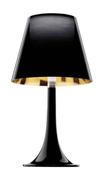 Flos Miss K  Table Lamp Include Shade, Black