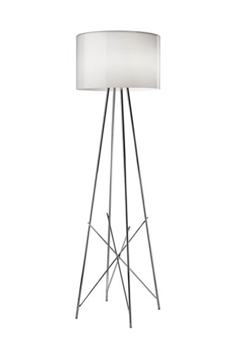 Flos Ray  F2 Dimmer Floor Lamp with Shade, Glass