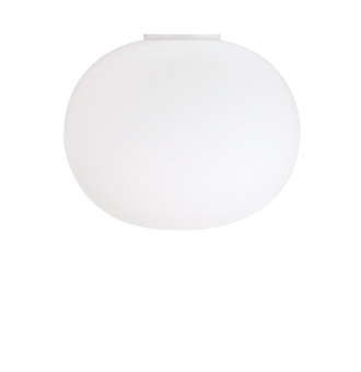 Glo-Ball Ceiling 2 Flush Mounted Flashed Opaline Glass
