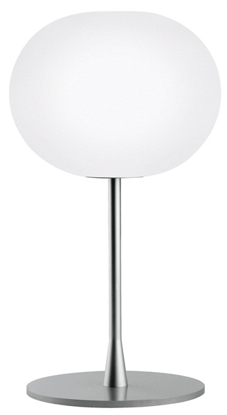 Glo-Ball T1 Small Table Lamp Thickness Steel Base & Opal Glass