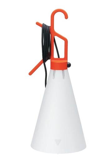 Flos Mayday  Hand Lamp in Polypropylene, Orange