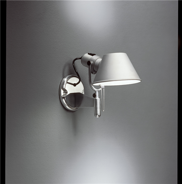 Artemide Tolomeo Faretto Wall Lamp With On Off Switch 163