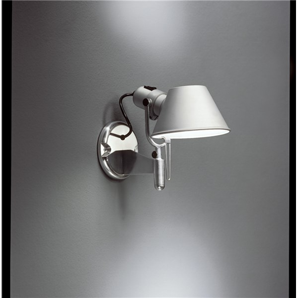 Artemide Tolomeo Faretto Wall Lamp With On Off Switch