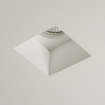 Astro Blanco  Square Downlight, Plaster Finish White