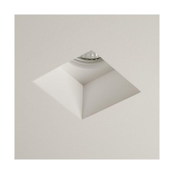 Astro Blanco  Square Downlight, Plaster Finish White