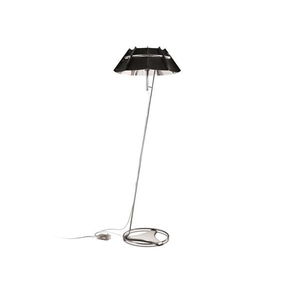 Slamp Chapeau  Dimmable Floor Lamp Black/Silver