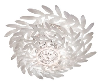 Slamp Pacis  Small Ceiling Lamp White