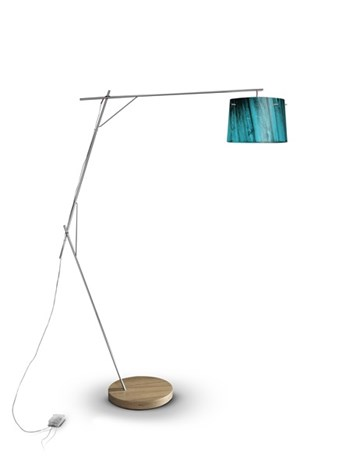 Slamp Woody  Dimmable Floor Lamp, Blue