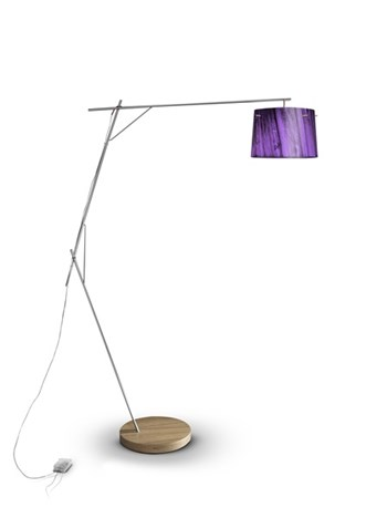 Slamp Woody  Dimmable Floor Lamp, Purple