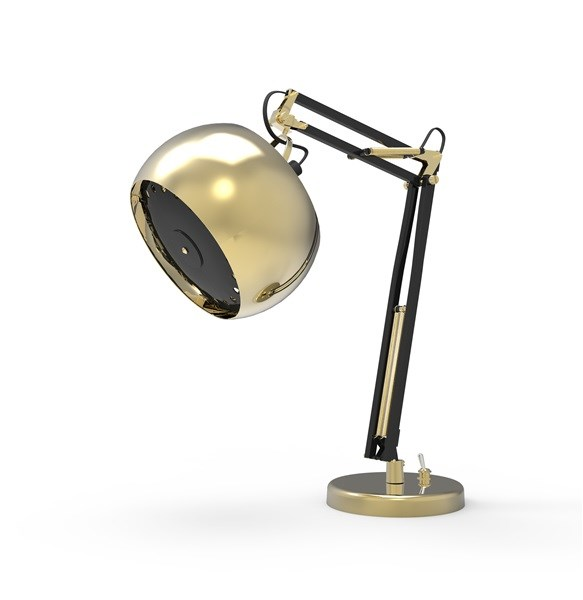 Zam Marfik  Adjustable Table Lamp  with with Custom Finishes
