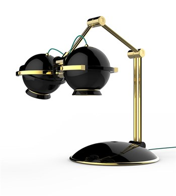 Zam Gliese  Adjustable table lamp with custom finishes