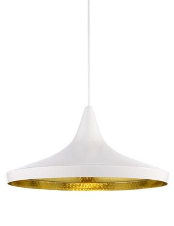 Tom Dixon Beat  Wide, Pendant Light, White