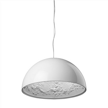 Flos Skygarden  2 ES, Suspension Pendant Light, Glossy White