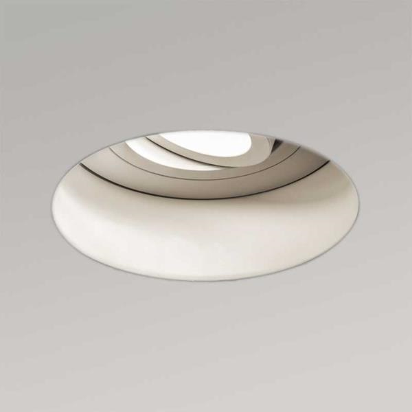 Trimless Round Adjustable White Textured LED Recessed Downlight