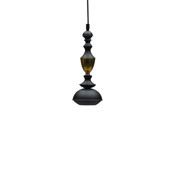 Benben Suspension Lamp Type 4, Black/Yellow Copper
