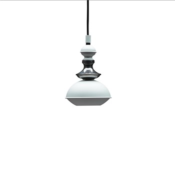 Benben Suspension Lamp Type 1, White/Chrome