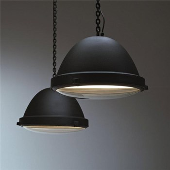 The Outsider Suspension Lamp, Black Powder Coated