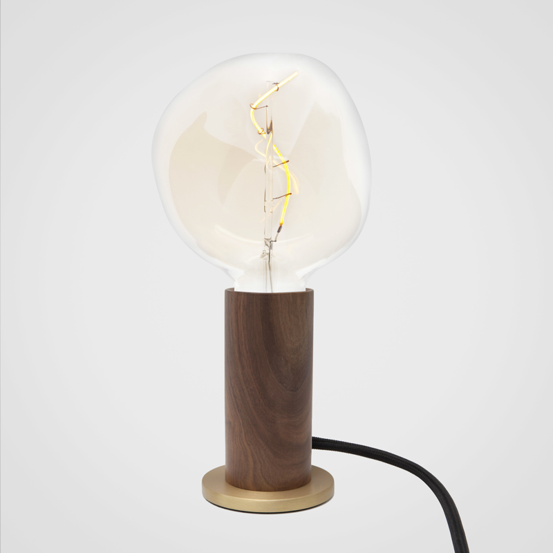 Knuckle Table Lamp Walnut with Voronoi